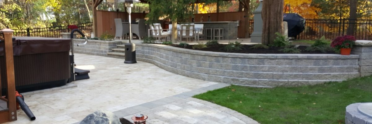 SSE Landscape Stone Wall Landscape contruction